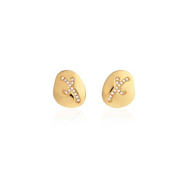 Amore Pave Kiss Stud Earrings