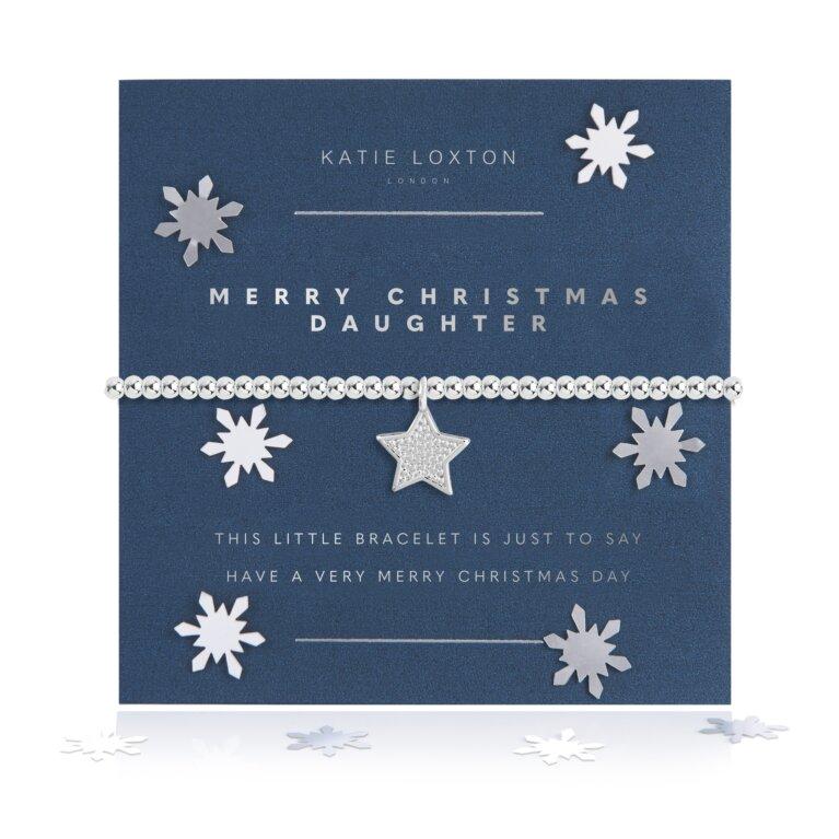 A Little Merry Christmas Daughter Bracelet Snow Globe