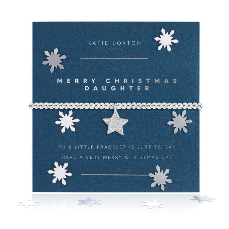 a little Merry Christmas Daughter Bracelet | Snow Globe