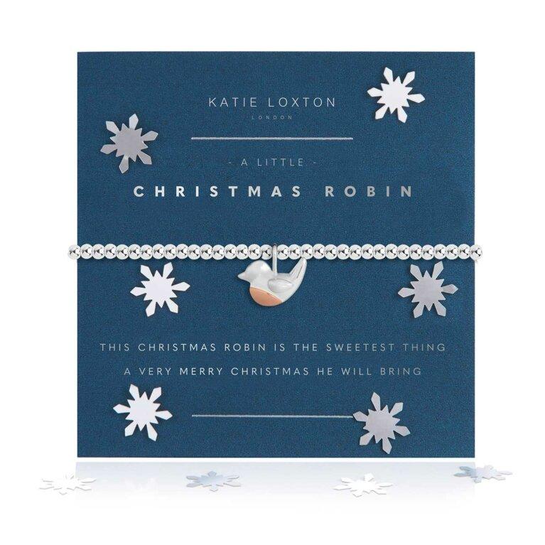 a little Christmas Robin Bracelet | Snow Globe