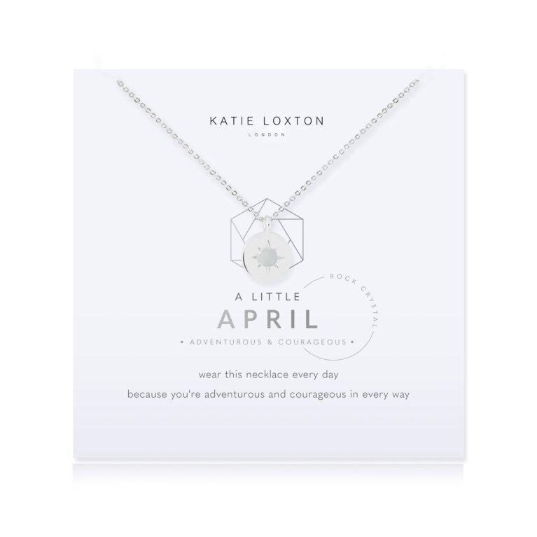 Birthstone a little Necklace April Rock Crystal