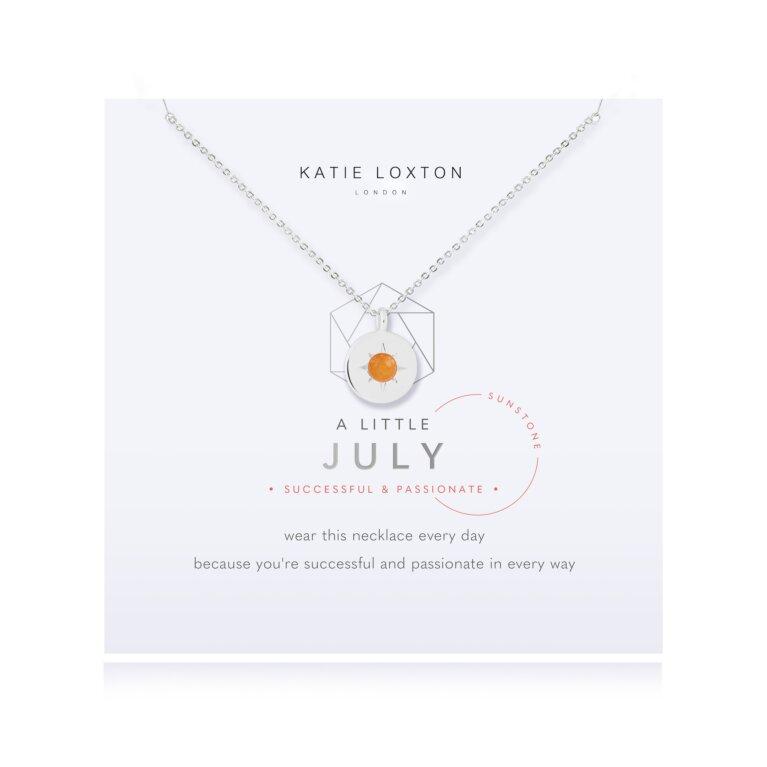 Birthstone a little Necklace July Sunstone