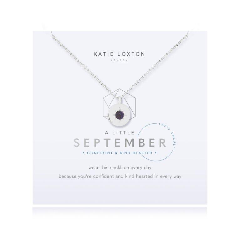 Birthstone a little Necklace September Lapis Lazuli