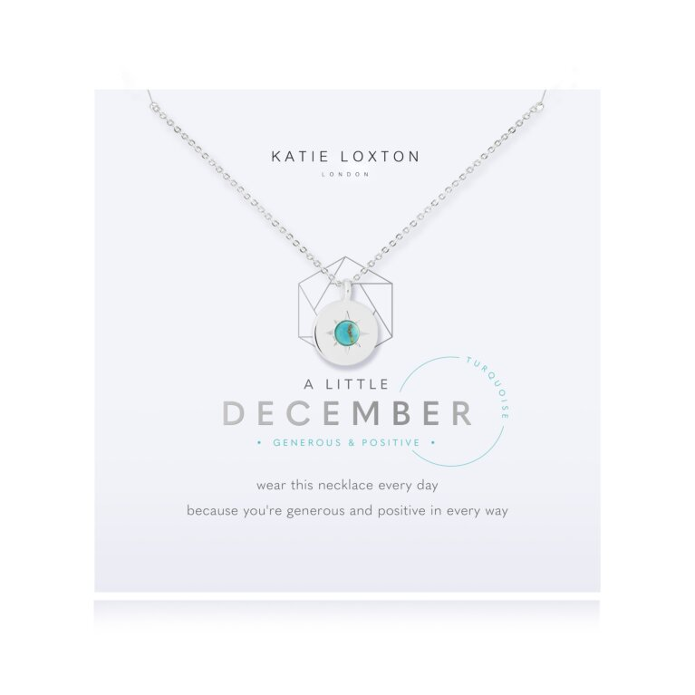Birthstone a little Necklace December Turquoise