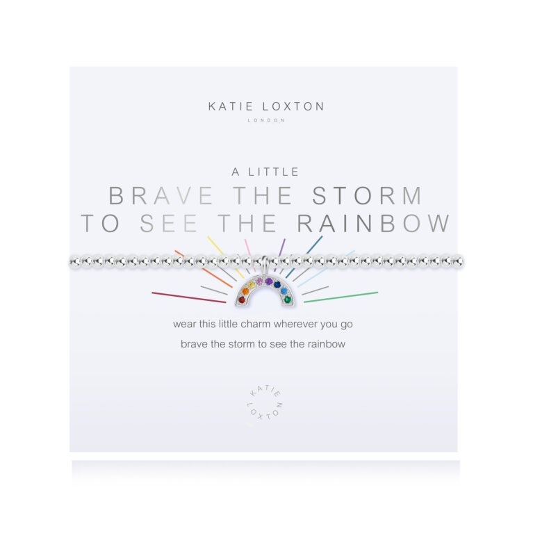a little Brave The Storm To See The Rainbow Bracelet