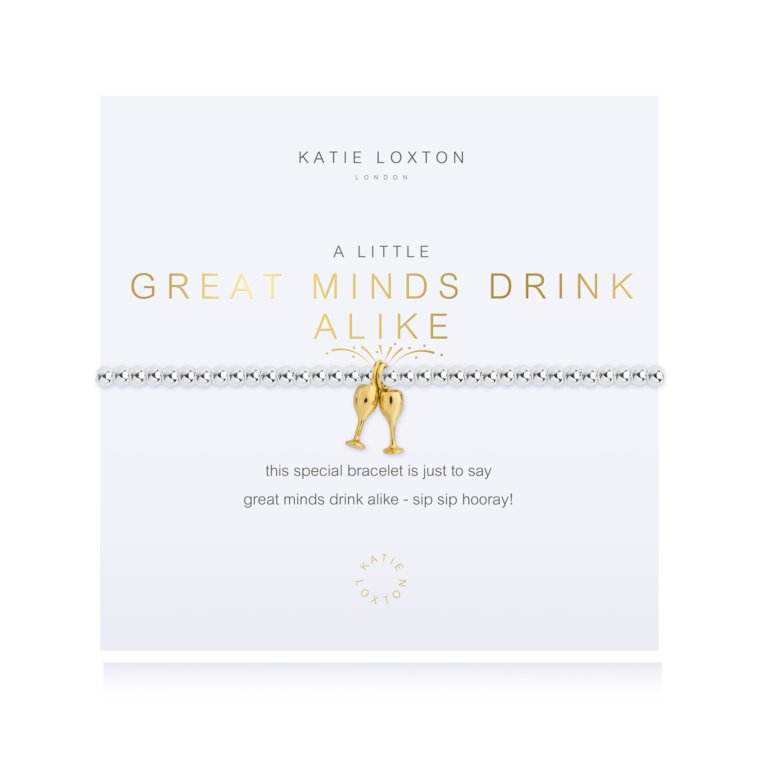a little Great Minds Drink Alike Bracelet