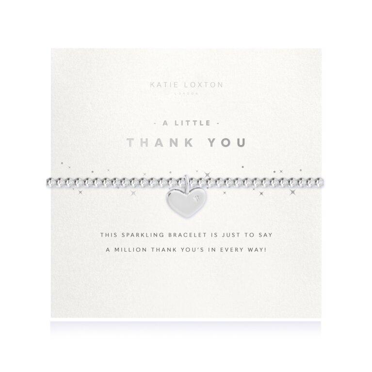 a little Thank You Faceted Bracelet
