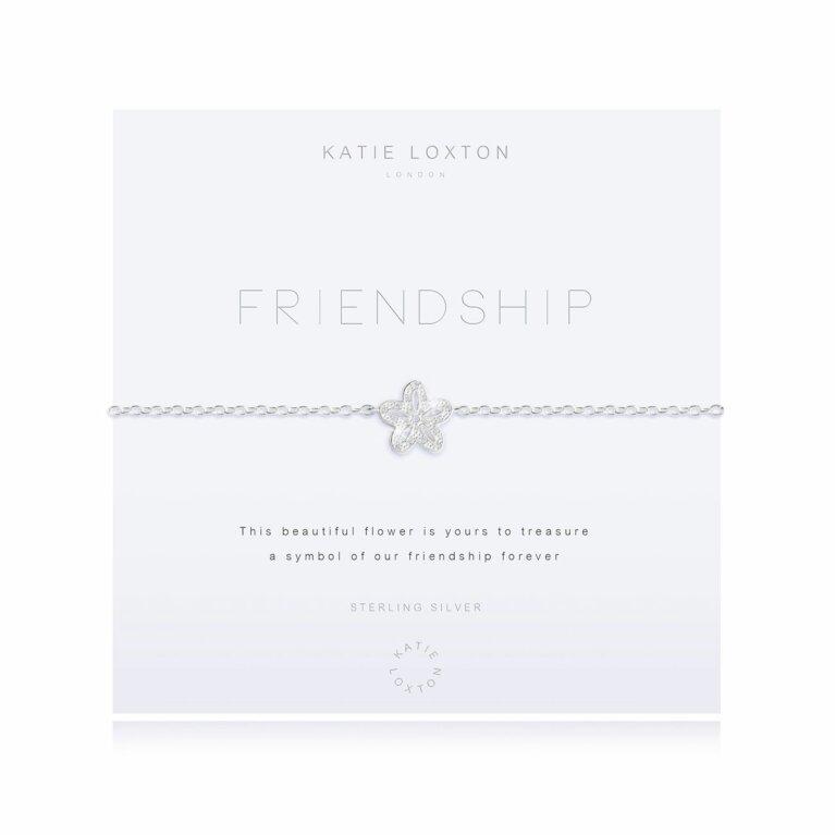 Sterling Silver Pave Bracelet | Friendship