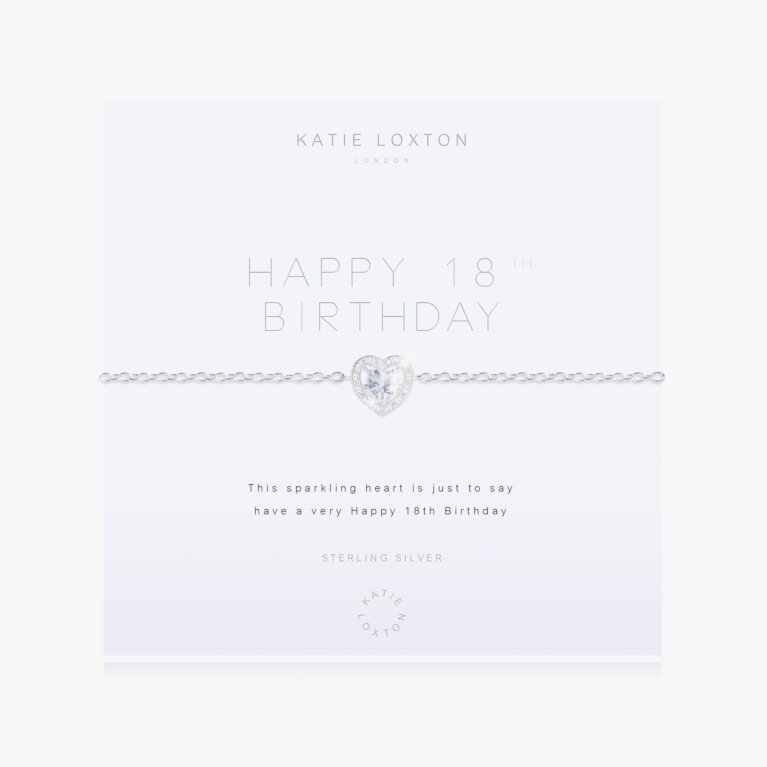 Happy 18th Birthday Bracelet | Sterling Silver