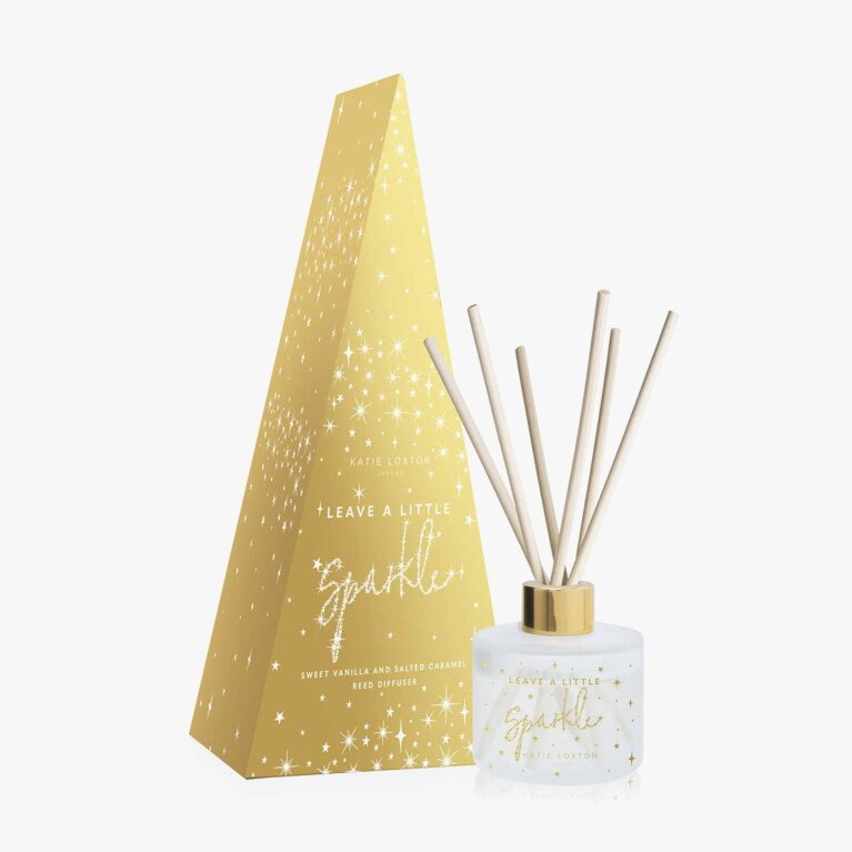 Festive Reed Diffuser Leave A Little Sparkle Sweet Vanilla And Salted Caramel