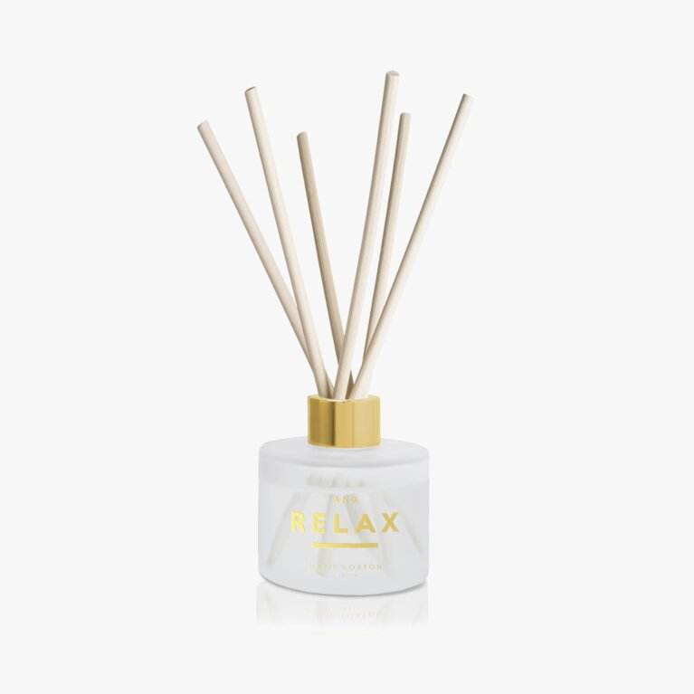Sentiment Reed Diffuser | And Relax | White Orchid and Soft Cotton