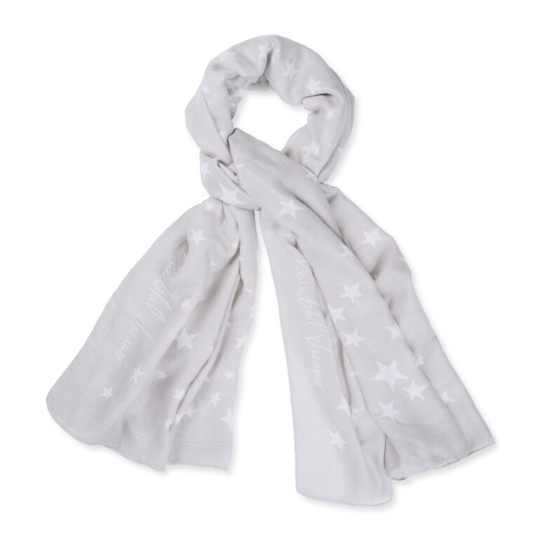 Sentiment Scarf | Beautiful Dreamer | Gray