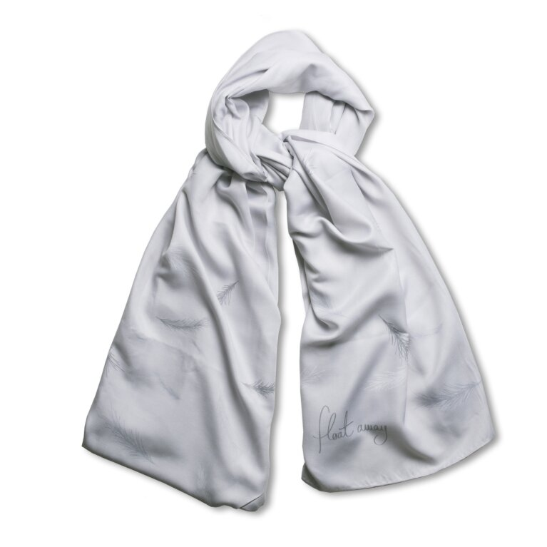 Sentiment Scarf | Float Away | Gray