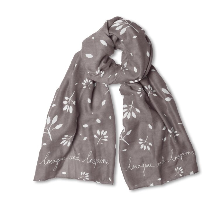 Sentiment Scarf | Imagine And Inspire | Charcoal