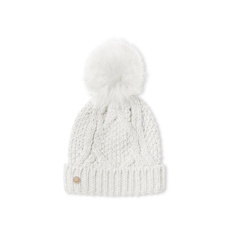 Cable Knit Bobble Hat | Cream