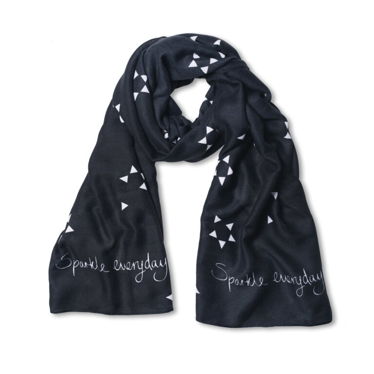 Sentiment Scarf | Sparkle Every Day | Thistle Gray