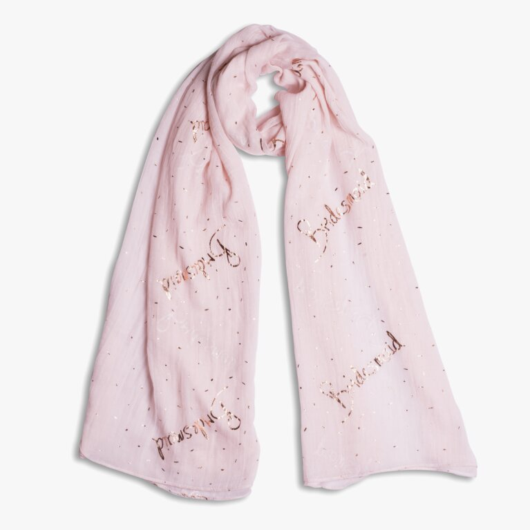 Sentiment Scarf | Bridesmaid | Blush Pink