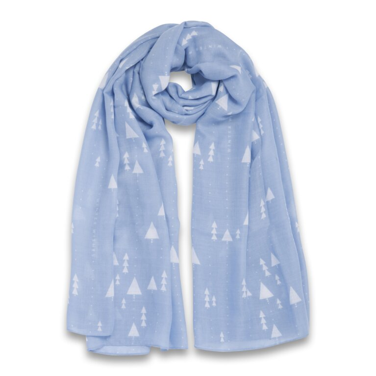 Sentiment Scarf Winter Wishes In Blue