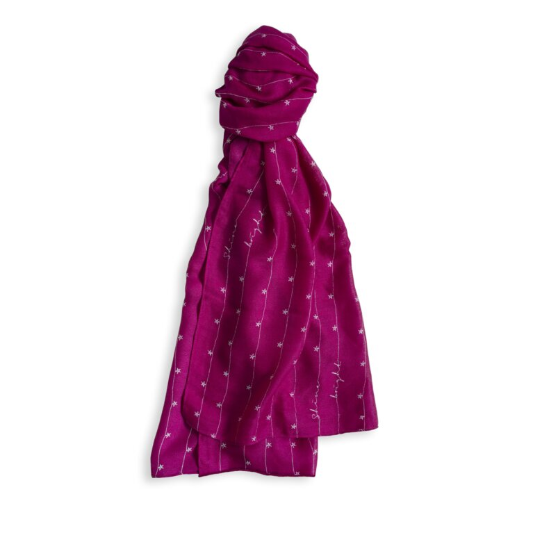Sentiment Scarf | Shine Bright | Berry Pink