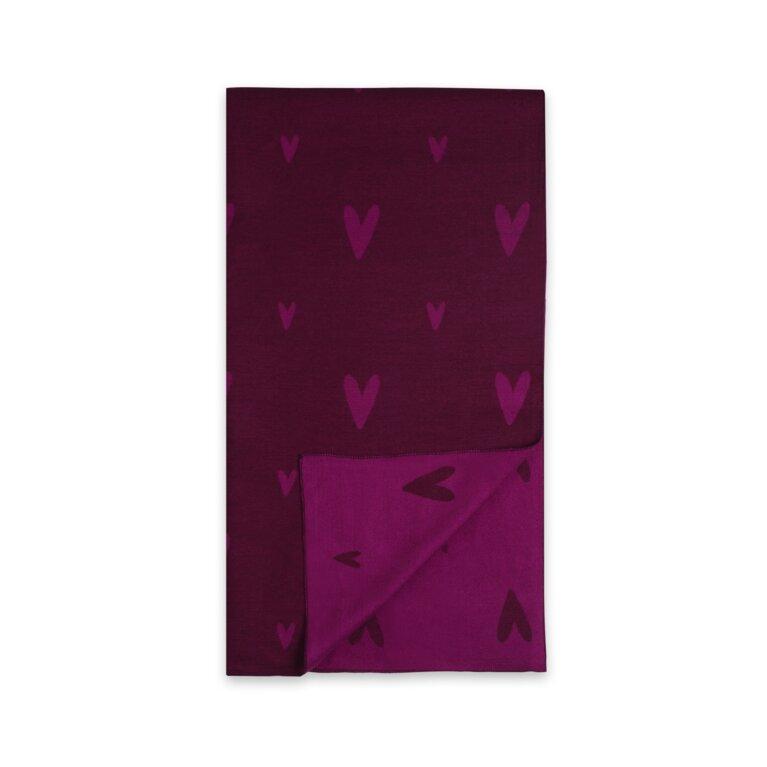 Blanket Scarf | Burgundy And Pale Burgundy