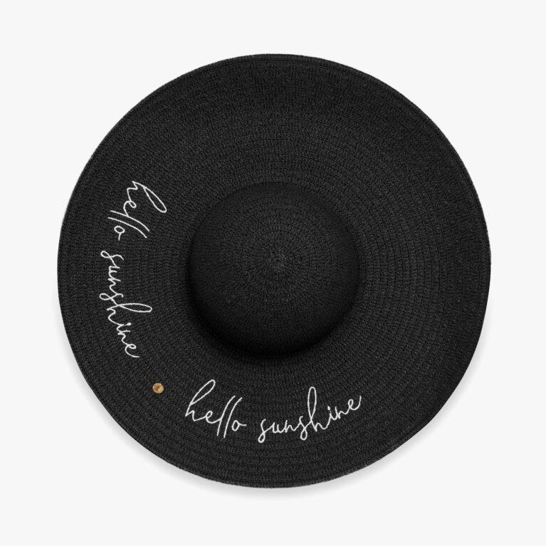 Straw Hat | Hello Sunshine | Black