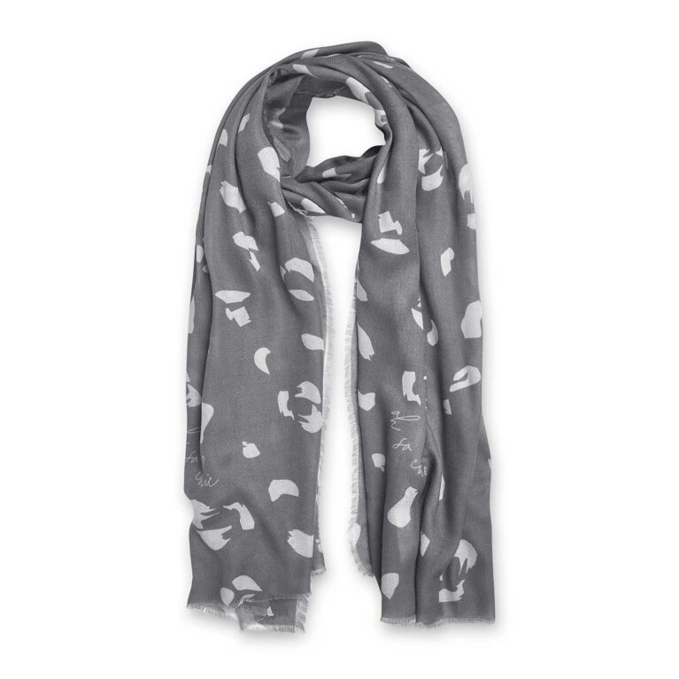 Sentiment Scarf | Oh So Chic | Charcoal and Pale Grey