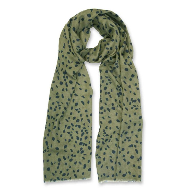 Sentiment Scarf | Leopard Print | Black and Khaki