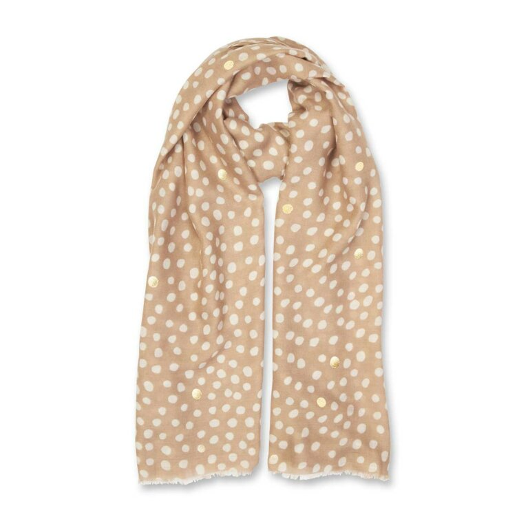 Metallic Scarf | Dalmation Print
