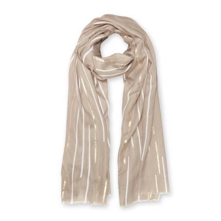 Metallic Scarf | Sunbeam | Natural