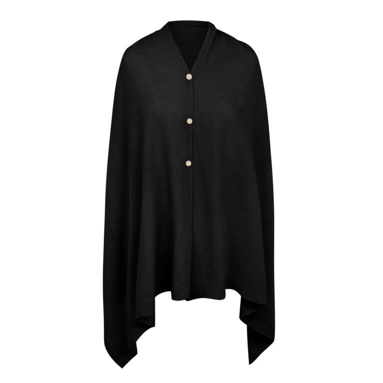 Eve Multi Way Poncho In Black