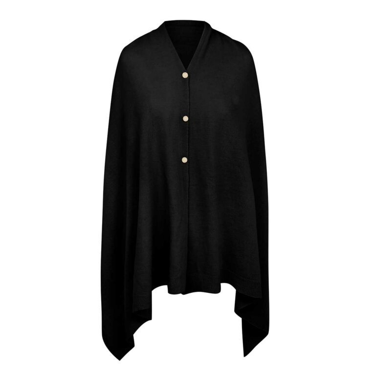 Eve Multi Way Poncho | Black