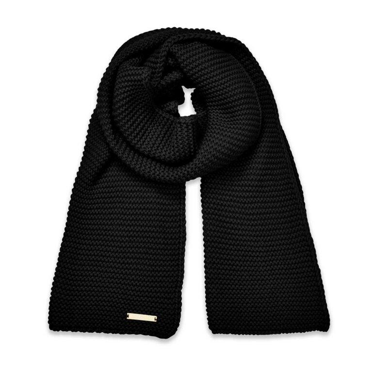 Chunky Knit Scarf | Black