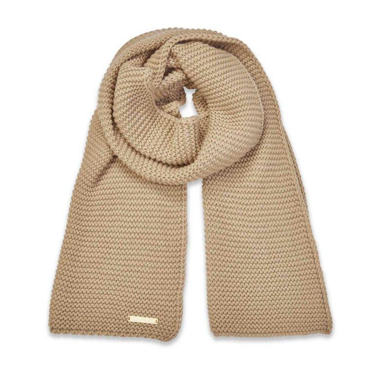 Chunky Knit Scarf | Caramel