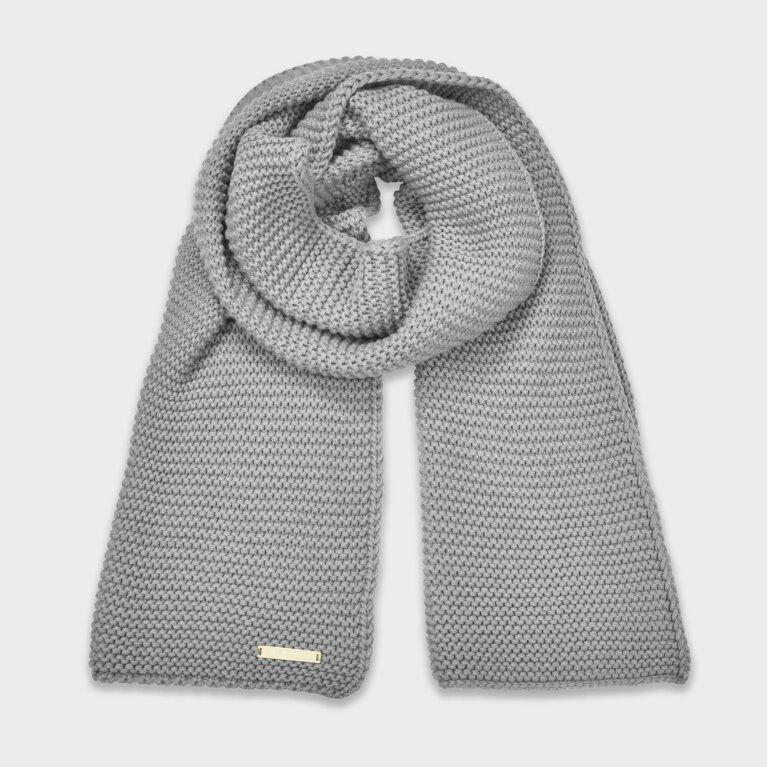 Chunky Knit Scarf In Grey