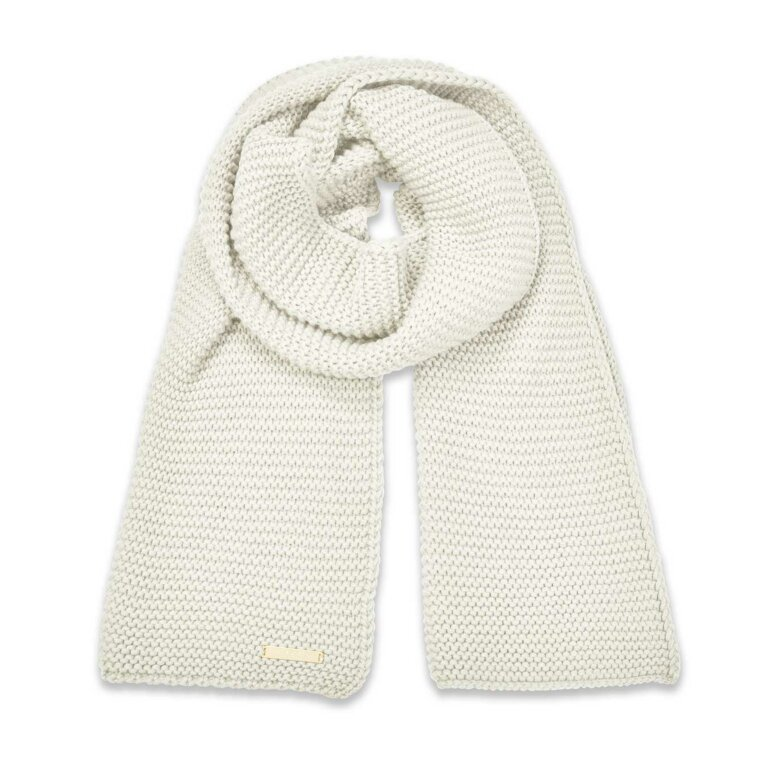 Chunky Knit Scarf | Cream