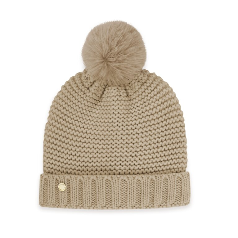 Chunky Knit Hat In Caramel