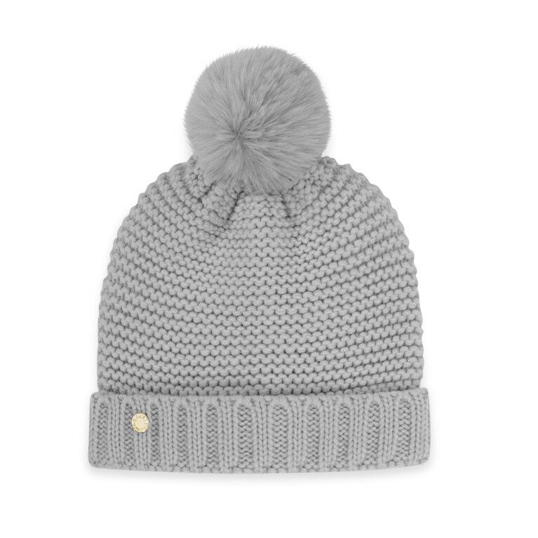 Chunky Knit Hat Gray