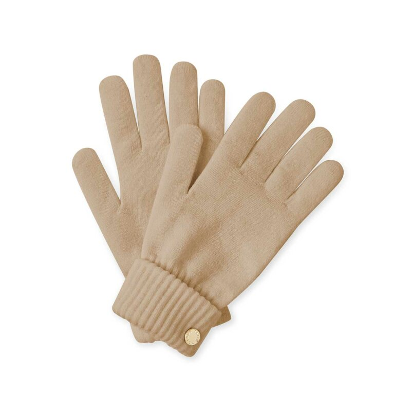 Chunky Knit Gloves | Caramel