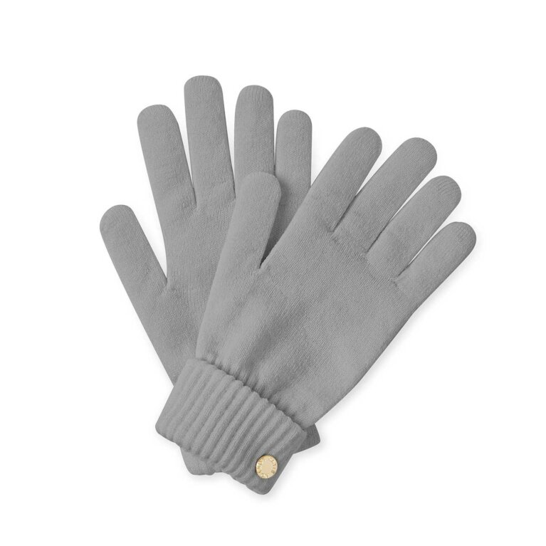 Chunky Knit Gloves | Gray