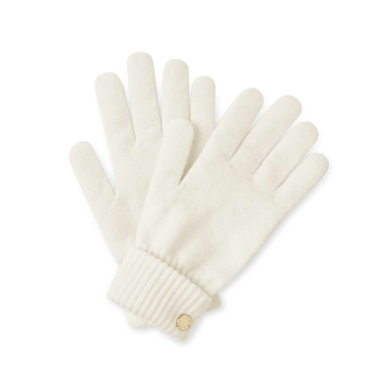 Chunky Knit Gloves | Cream