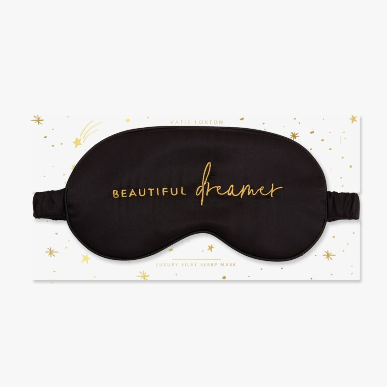 Satin Eye Mask | Beautiful Dreamer | Black