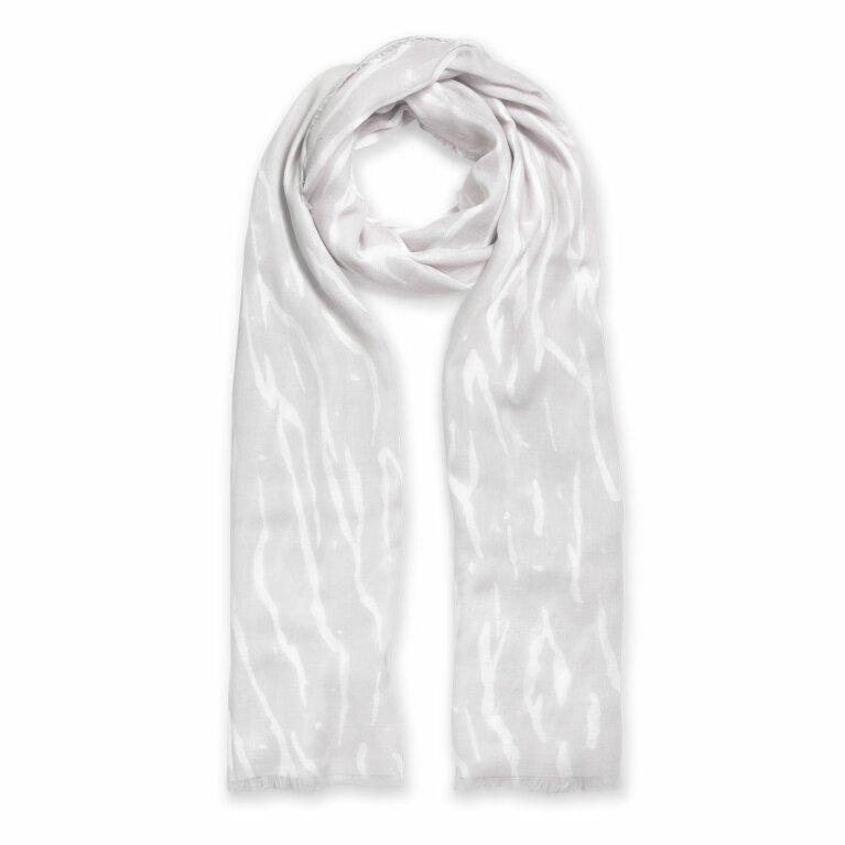 Printed Scarf | Zebra Print | Pale Grey