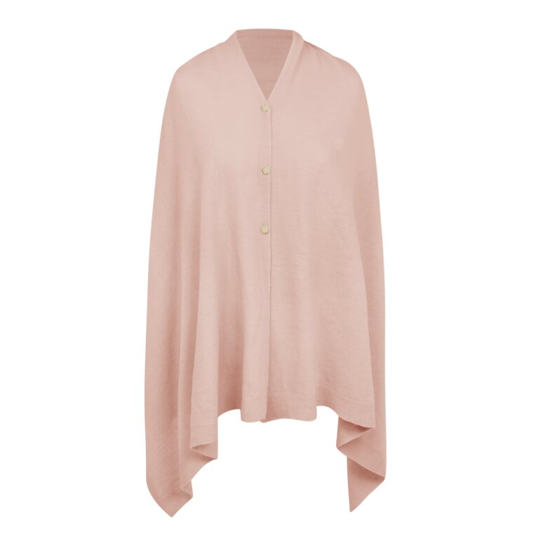Eve Multiway Poncho In Pale Pink