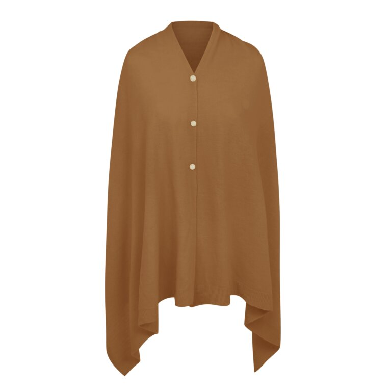 Eve Multiway Poncho In Light Brown