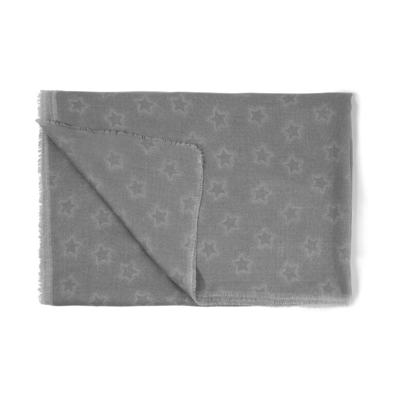 Printed Scarf Star Print in Grey