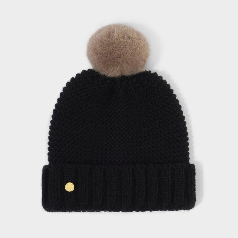 Chunky Knit Hat in Black