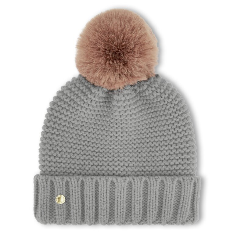Chunky Knit Hat in Gray