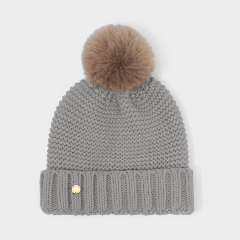 Chunky Knit Hat in Grey