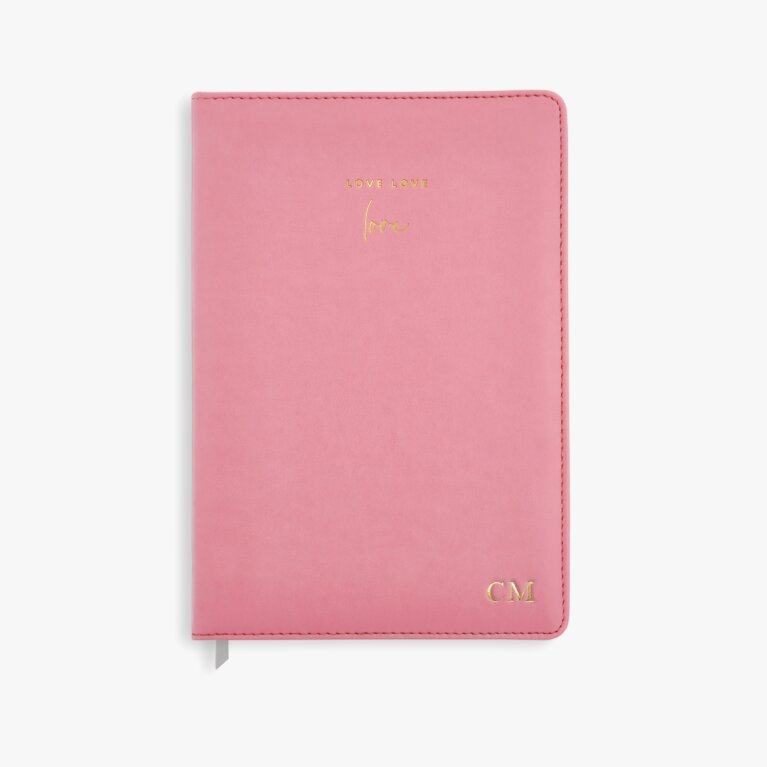 Pu Notebook Love Love Love In Coral