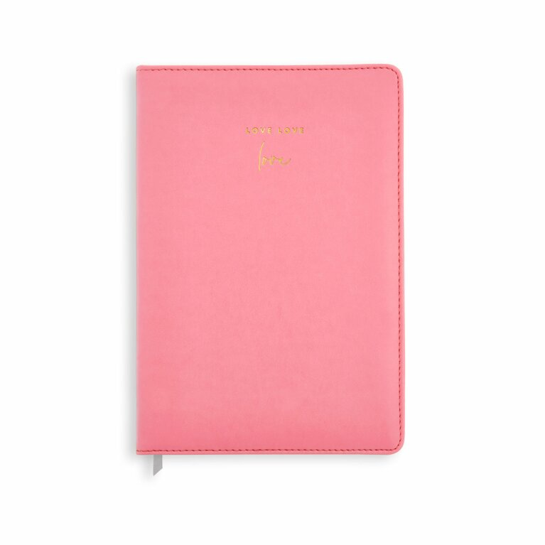 PU Notebook | Love Love Love | Coral